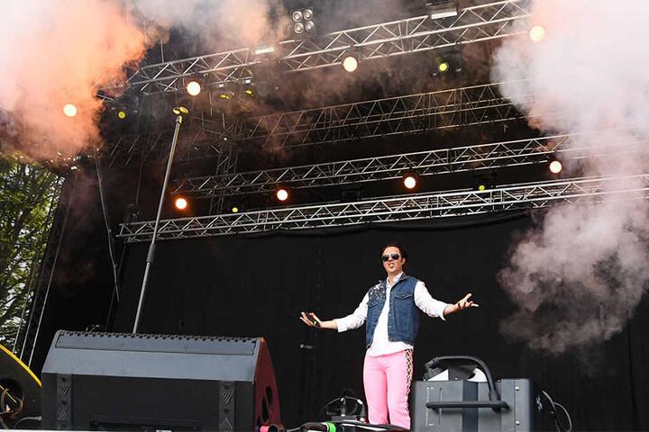 Alexander Marcus lockte Tausende von Fans vor seine Bühne.