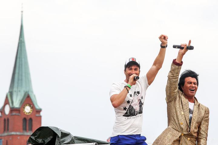 2014 nahmen Costa Cordalis und sein Sohn Lucas noch gemeinsam am Schlagermove teil.