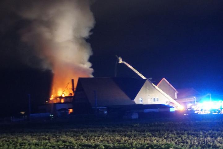 Das Feuer war schon aus der Ferne zu sehen.