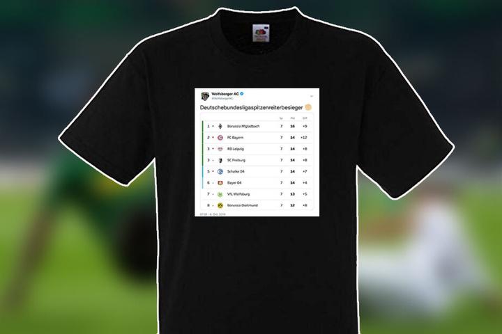 """Das """"Deutschebundesligaspitzenreiterbesieger"""" T-Shirt."""