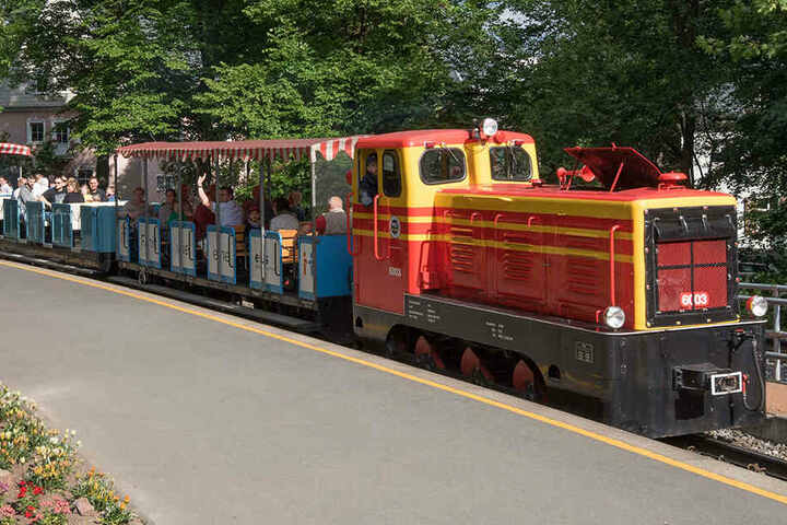 Die Parkeisenbahn drehte 2018 insgesamt 8000 Runden im Küchwald.