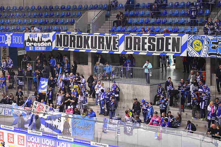 Die Nordkurve fast verwaist! So könnte es heute in der EnergieVerbund Arena beim Duell der Dresdner Eislöwen mit Liga-Schlusslicht Bayreuth Tigers aussehen, sollten die Fans ihre Protestabsichten wahrmachen.
