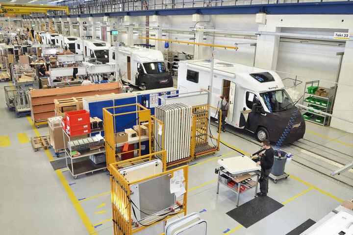 Bei Capron in Neustadt werden heute in den alten Fortschritt-Hallen Reisemobile gefertigt.