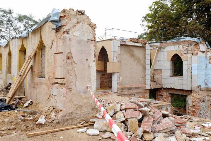 Das Trümmer-Gelände kurz nach dem vorläufig verhängten Baustopp im Sommer 2017.