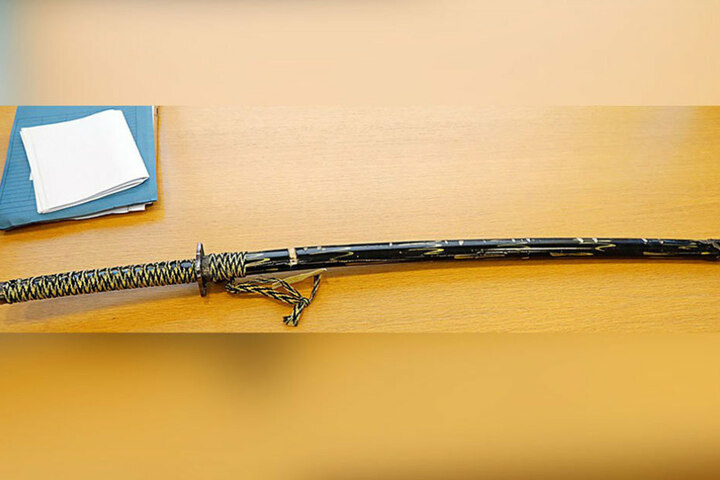 Mit diesem Schwert hat Fahri A. die Leute im Supermarkt bedroht.
