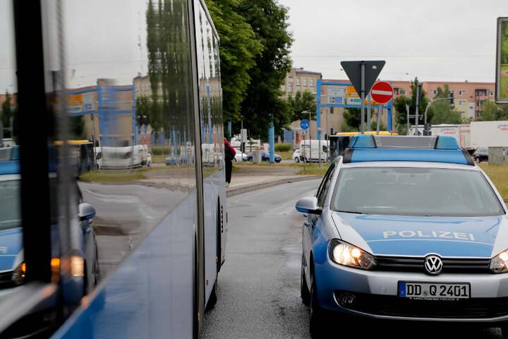 Die Polizei nahm vor Ort die Aussagen der Zeugen auf.