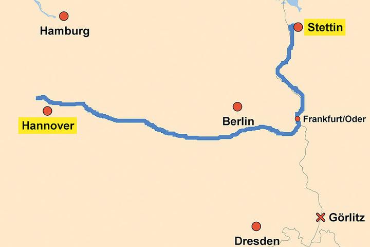 Von Hannover nach Stettin schipperte der Kapitän einfach auf eigene  Faust.