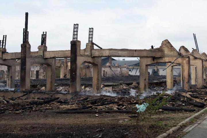 Das 1937 errichtete Baudenkmal ist in der Nacht vollständig abgebrannt.