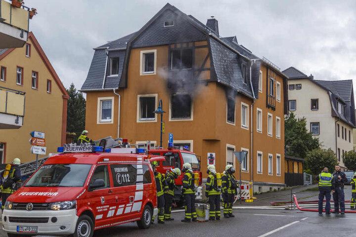 Die Brandwohnung in Oelsnitz/Erz. ist unbewohnbar.