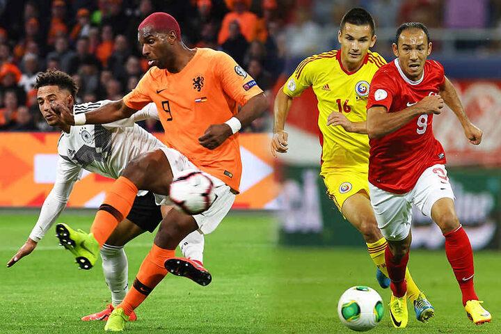 Ryan Babel (Zweiter von links) traf für Galatasaray, Umut Bulut (r.) für Kayserispor. (Bildmontage)