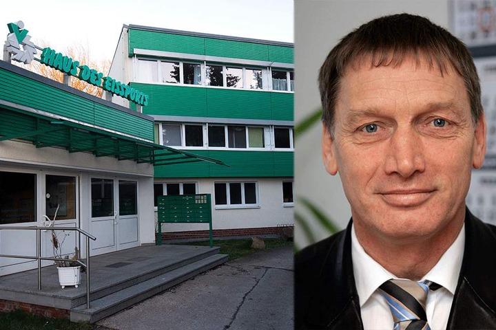 Einbrecher waren im Haus des Eissports. Leitender Polizeidirektor Klaus Ott (58) ist sauer über den Einbruch beim Chemnitzer Polizeisportverein.