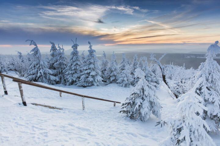 Wunderschöne Winterlandschaft im Erzgebirge.