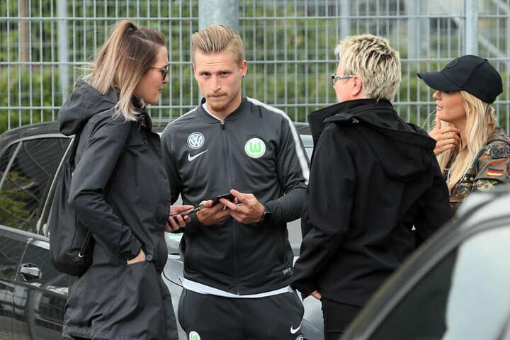 Obwohl er nicht spielen konnte, ließ sich Stefaniak den Besuch in Dresden nicht entgehen.