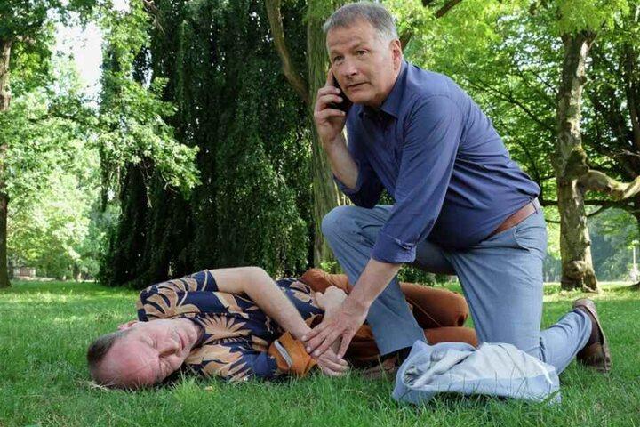 Dr. Roland Heilmann bangt derweil um die Gesundheit seines Freundes Dr. Achim Kreutzer.