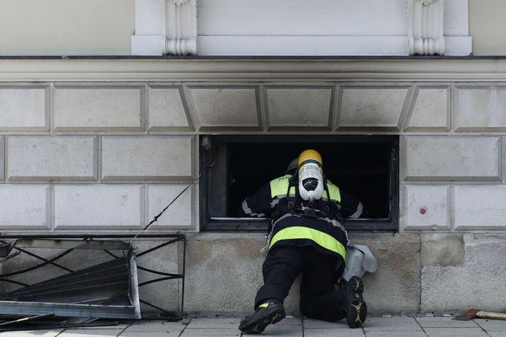 Im Keller des Finanzministeriums in München hat es gebrannt.