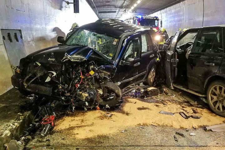 Ein Brite war in zwei mit Deutschen und Schweizern besetzte Autos gekracht.
