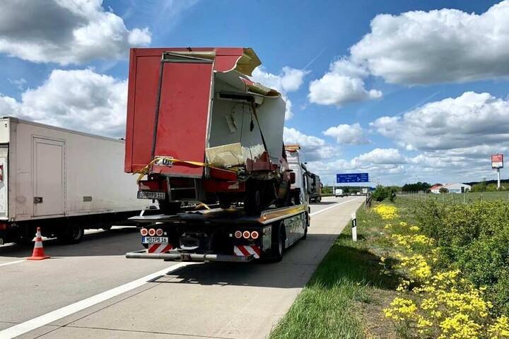 Der Transporter musste abtransportiert werden.