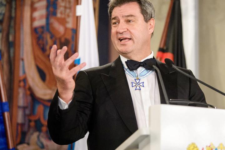 Markus Söder hat die Entscheidung des Verfassungsschutzes zur AfD begrüßt. (Archivbild)