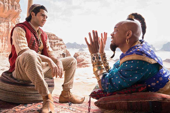 """Will Smith (50) in seiner Rolle als Genie in der Disney-Realverfilmung """"Aladdin"""" wird bei den Filmnächten am Elbufer niemand erleben können."""
