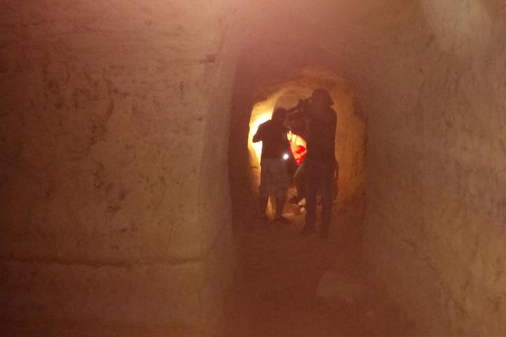 In dieser Höhle wurde die Biologin am Dienstag gefunden.