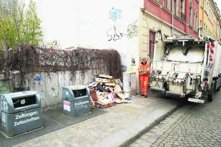 Eigentlich gehört Müll in die Tonne. Landet er daneben, berechnet die  Stadtreinigung künftig deutlich mehr Gebühren.