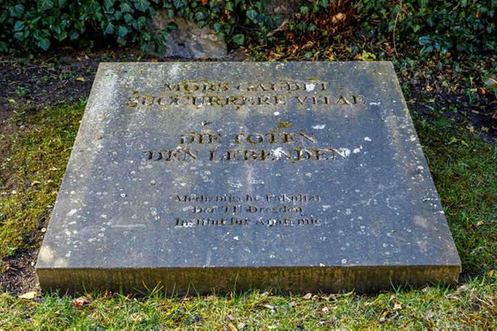 Auf dem Dresdner Trinitatisfriedhof werden die Körperspender anonym beigesetzt. Einmal im Jahr gibt es eine Trauerfeier für die Angehörigen.