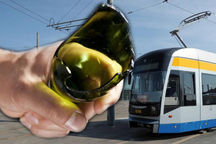Der Straßenbahnfahrer wurde bei der Attacke am Kopf verletzt.
