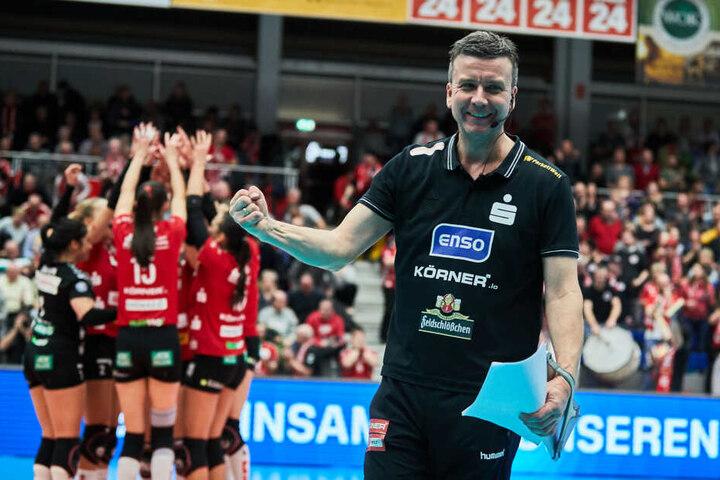 Alexander Waibl kann aufatmen: Dieses Mal kein Hammerlos im DVV-Pokal.