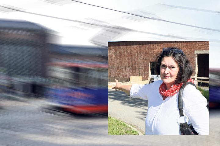 CDU-Stadträtin Christiane Drechsel (53) kämpft für den Erhalt der Straßenbahnlinien zum Hauptbahnhof.