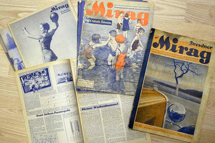 Solche Raritäten gibt es nur in Hainichen: Programmzeitschriften aus den 1930er Jahren.