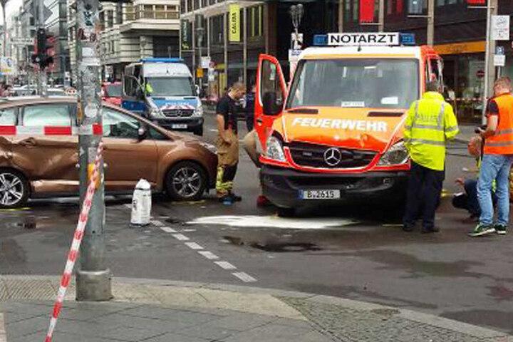 Der Notarzt befand sich gerade im Einsatz, als der Unfall geschah.