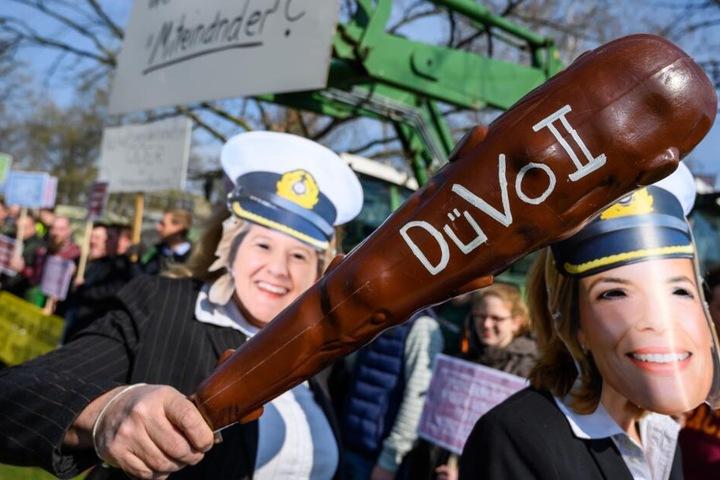 Die Bauern demonstrieren gegen eine geplante Verschärfung der Düngeregeln in der Düngeverordnung 2.
