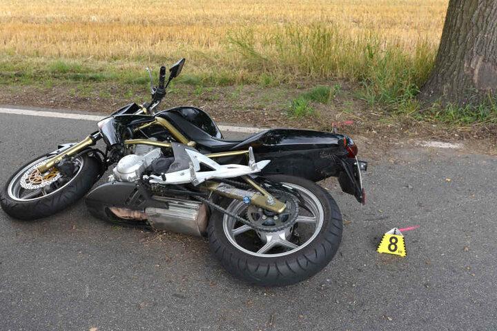 Der Biker prallte gegen einen Baum und überlebte den Unfall nicht.