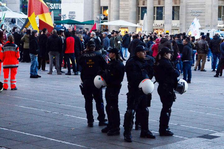 Hatten am Mittwoch wenig zu tun: die insgesamt rund 150 Polizisten, welche die Demo begleiteten.
