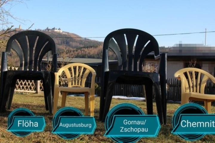 Vier Stühle, vier Mitfahrgelegenheiten in die Region - das wird in Augustusburg geplant.