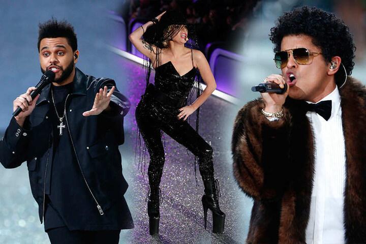 Musik gab's auch! Und zwar von The Weeknd, Lady Gaga und Bruno Mars.