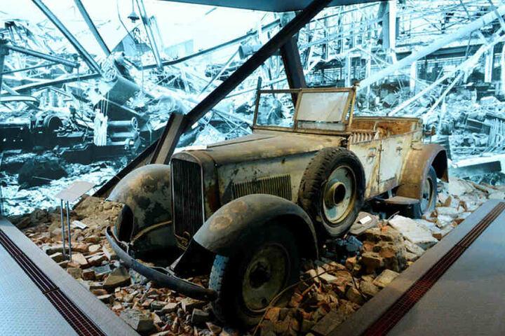 Die Daueraustellung des Horch-Museums zeigt auch dieses Wehrmacht-Fahrzeug der Auto-Union.