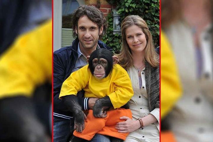 """Falk-Willy Wild spielte u.a. mit Ursula Buschhorn und dem Affen Charly in der ZDF-Serie """"Unser Charly"""" mit."""