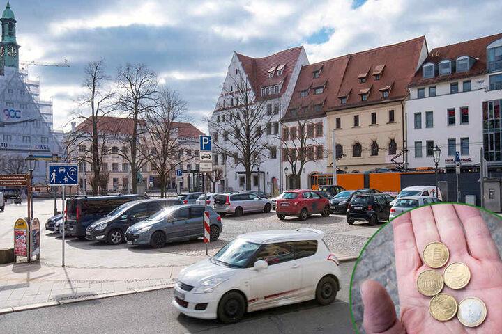 Knifflig: Wer in Zwickaus City zwei Stunden parken will, braucht exakt 1,80 Euro. Die Automaten wechseln nicht.