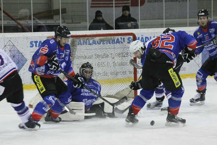 Die Eishockeyspieler des EHV Schönheide stürmten zuletzt in der Oberliga Süd.  Nach der Insolvenz darf das Team nicht mehr antreten.