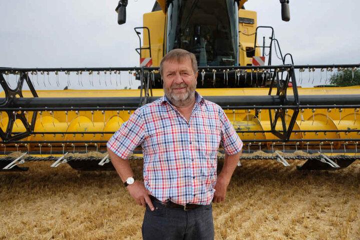 Am letzten Tag seiner Amtszeit als Landesbauernpräsident passierte auf dem Feld von Wolfgang Vogel (67) der schwere Unfall.