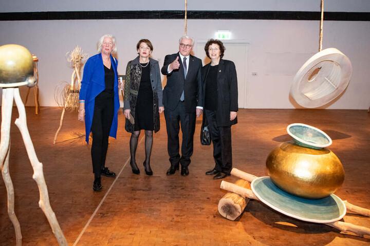 """Hoher Besuch: Frank-Walter Steinmeier ist offizieller Schirmherr des Jubiläums-Festivals """"100 Jahre Bauhaus""""."""