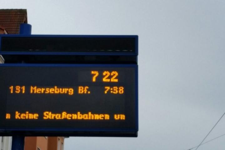 Normalerweise fahren hier die Tram-Linien 7, 8 und 15 ab.