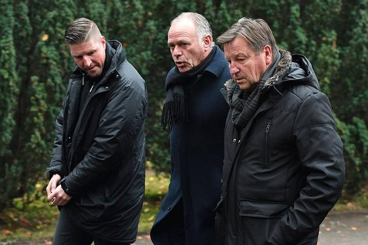 Dixie Dörner (re.), Hartmut Schade (Mi.) und Dörners Sohn Steffen.