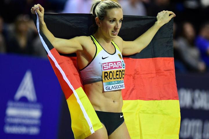 Noch einmal Silber: Hürdenläuferin Cindy Roleder musste sich nur einer niederländischen Konkurrentin geschlagen geben.