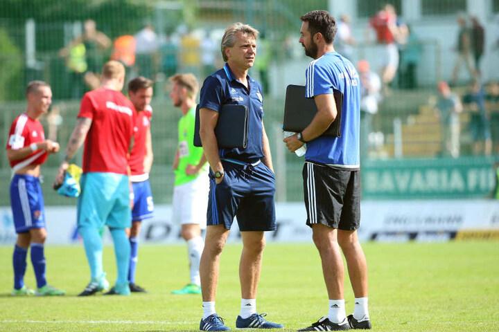 Trainer Horst Steffen (l.) und Assistent Sreto Ristic haben in der Länderspielpause  viele Dinge hinterfragt und einiges verändert.