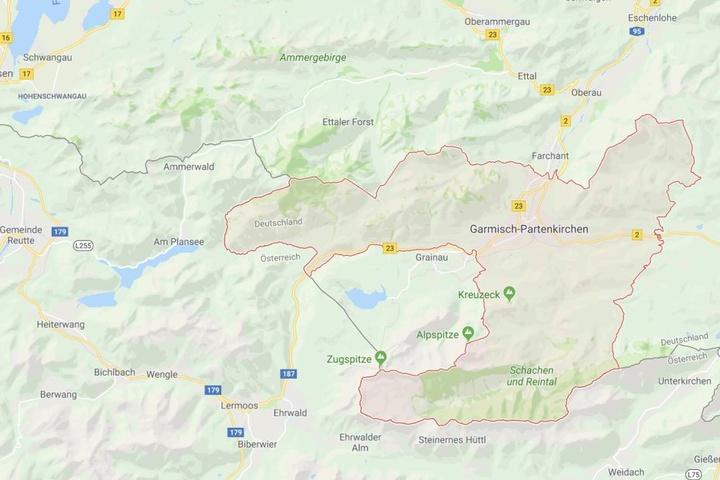 Das Feuer brach in einem Haus in Garmisch-Partenkirchen aus.