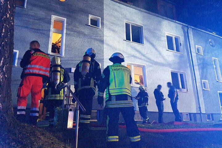 Bei Eintreffen der Feuerwehr stand der Topf auf dem Herd bereits in Flammen.