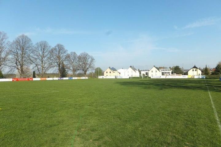 Der Sportplatz in Waldheim. Hier findet am 1. Mai das Testspiel zwischen Grimma und Lok Leipzig statt.
