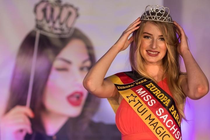 Glückliche Siegerin: Nastassja Bittner (19) ist die neue Miss Sachsen.